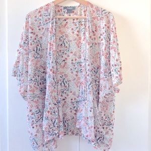 (2 for $30) Natural Reflections Floral Kimono